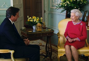 Picture Shows: The Queen and PM David Cameron at Private Audience in BP