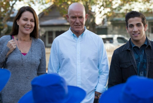 HH4 Ep04-185  Julia Morris as Gemma_Gary Sweet as Lewis and Firass Dirani as Justin. A Playmaker Production for the Nine Networ