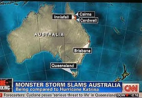 Map Of Australia Upside Down.Cnn S Upside Down Map Of Australia Tv Tonight