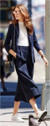 3 culotte with turtle collar inner and blazzer casual office outfit source adelinafashionblog.chicloth.ru