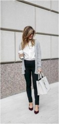 5 casual cardigan work outfit casual office outfit source looksglam.com