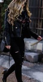 All black fall winter outfit