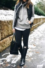 Fall street style jacket leather trousers and bag
