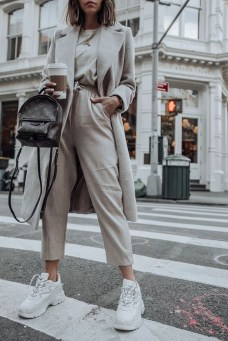 Layered neutrals monochormatic outfits fall
