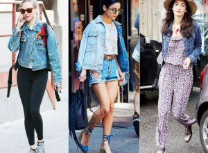 Ootd cool hollywood celebrity styles wearing denim jackets