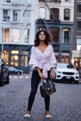 Styling statement tops for fall