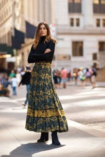 A romantic floral print offers unparalleled versatility day or night, autumn or spring, this skirt is sure to be a wardrobe favorite