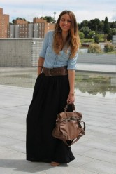 Cute maxi skirt outfits to impress everybody maxi