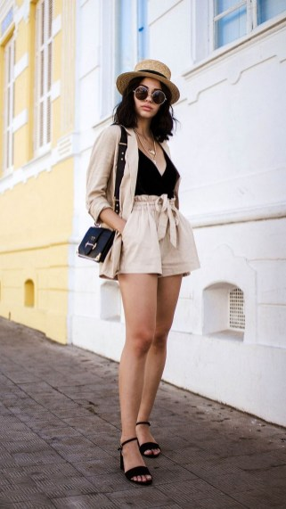 Two piece blazer and shorts set