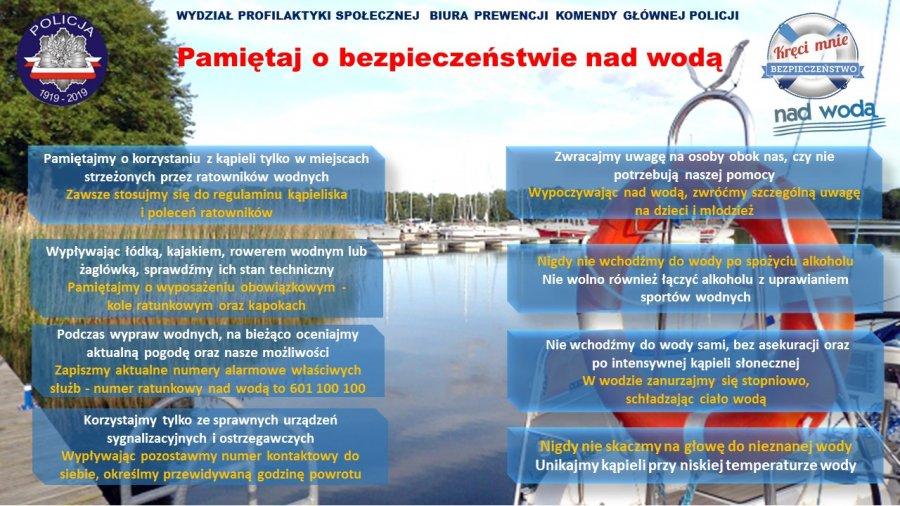 Znalezione obrazy dla zapytania pamiętaj o bezpieczeństwie nad wodą