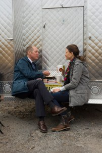 "THE BLACKLIST -- ""The Scimitar"" Episode 207 -- Pictured: (l-r) James Spader as Red Reddington, Scottie Thompson as Zoe Dantonio -- (Photo by: Virginia Sherwood/NBC)"