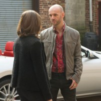 "THE BLACKLIST -- ""The Scimitar"" Episode 207 -- Pictured: (l-r) Megan Boone as Elizabeth Keen, Alban Merdani as Sevan Volkov -- (Photo by: Virginia Sherwood/NBC)"