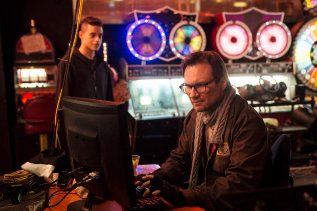 Pictured: (l-r) Rami Malek as Elliot, Christian Slater as Mr. Robot -- (Photo by: David Giesbrecht/USA Network) TBD on USA Network