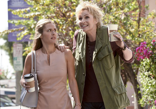 "ANGEL FROM HELL, starring Jane Lynch (right), is CBS's new single camera comedy about Amy (Lynch), a colorful, brassy woman who insinuates herself into Allison's (Maggie Lawson) organized and seemingly perfect life, claiming to be her ""guardian angel."" Photo: Darren Michaels/CBS ©2015 CBS Broadcasting, Inc. All Rights Reserved"