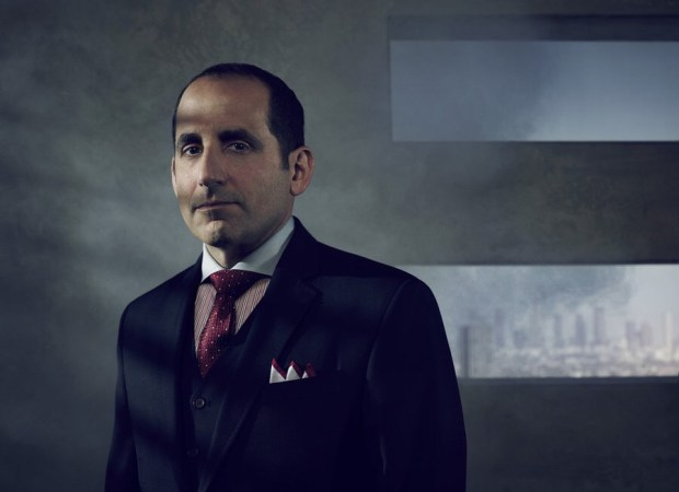 COLONY -- Season:1 -- Pictured: Peter Jacobson as Proxy Alan Snyder -- (Photo by: Justin Stephens/USA Network)