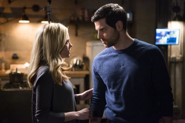 "GRIMM -- ""Good to the Bone"" Episode 518 -- Pictured: (l-r) Claire Coffee as Adalind Schade, David Giuntoli as Nick Burkhardt -- (Photo by: Scott Green/NBC)"