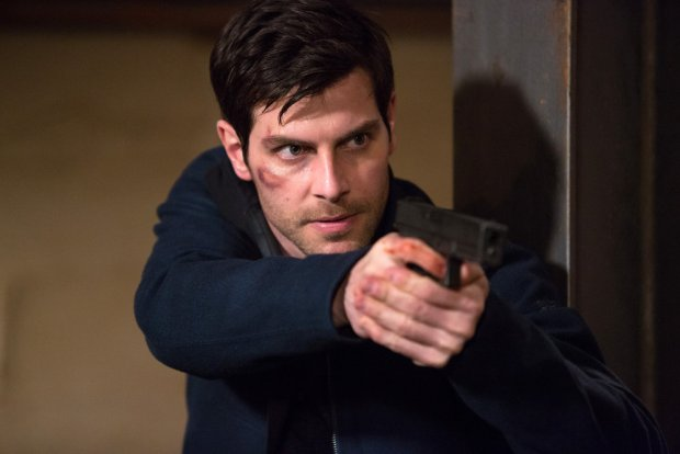 "GRIMM -- ""The Beginning of the End"" Episode 522 -- Pictured: David Giuntoli as Nick Burkhardt -- (Photo by: Scott Green/NBC)"
