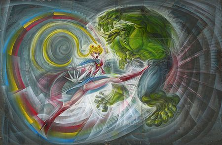 sailor moon fights the hulk