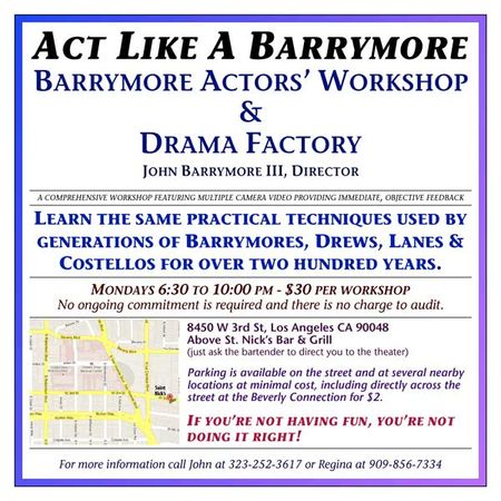 We have it on good authority that all the Barrymores said what was in the script!