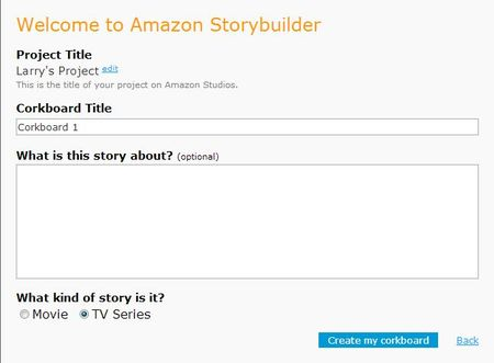 Amazon Storybuilder Corkboard Capture