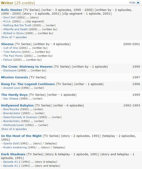 Bill Taub IMDB Capture