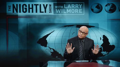 "NEW YORK, NY - JANUARY 19:  Host Larry Wilmore appears on the debut episode of Comedy Central's ""The Nightly Show with Larry Wilmore"" at The Nightly Show Studios on January 19, 2015 in New York City.  (Photo by Stephen Lovekin/Getty Images for Comedy Central)"