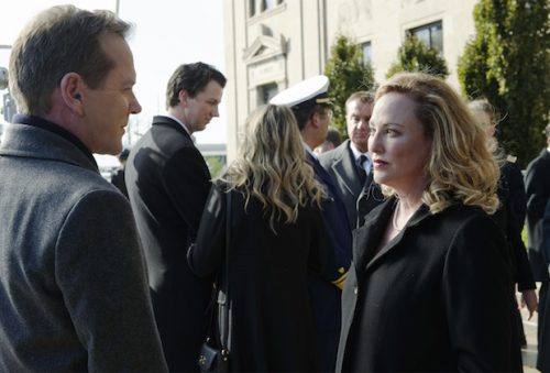 "DESIGNATED SURVIVOR - ""The Confession"" (ABC/Ben Mark Holzberg) KIEFER SUTHERLAND, VIRGINA MADSEN"