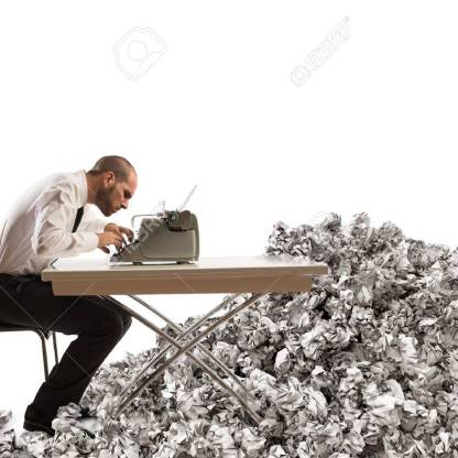 47858553-overworked-exhausted-businessman-writes-with-a-typewriter