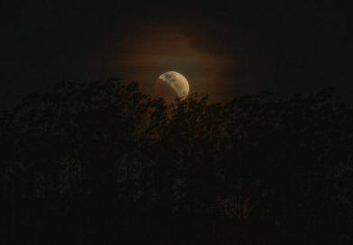 Friburguenses registram eclipse lunar parcial