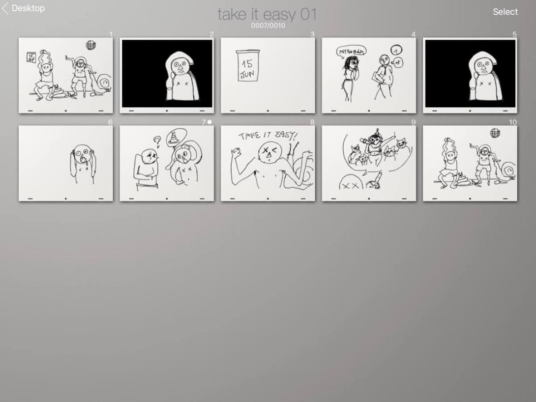 take it easy animation challenge draft storyboard