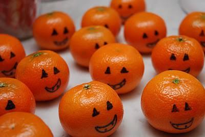 萬聖節 halloween orange tangerine clementine pumpkins 柳橙 橘子 南瓜