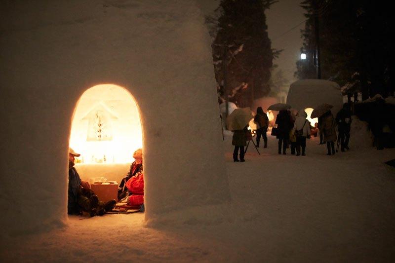 橫手的雪祭(雪小屋)