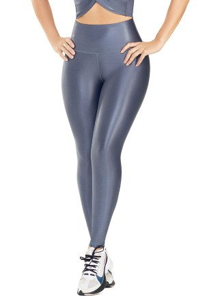 Leather-Look Leggings – Charcoal Glam