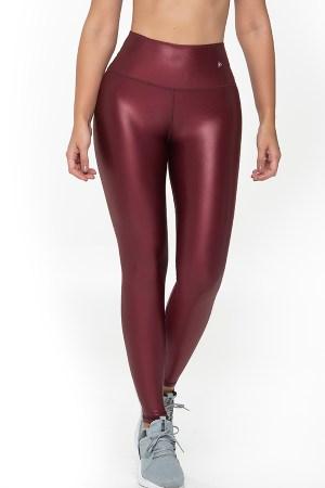 Leather-Look Leggings – Wine Glam