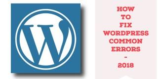 how to fix wordpress common errors