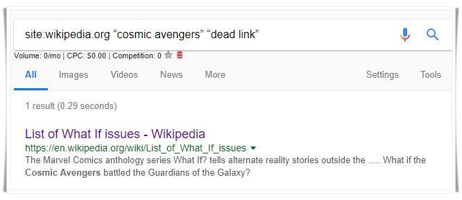 google-dead-link-search