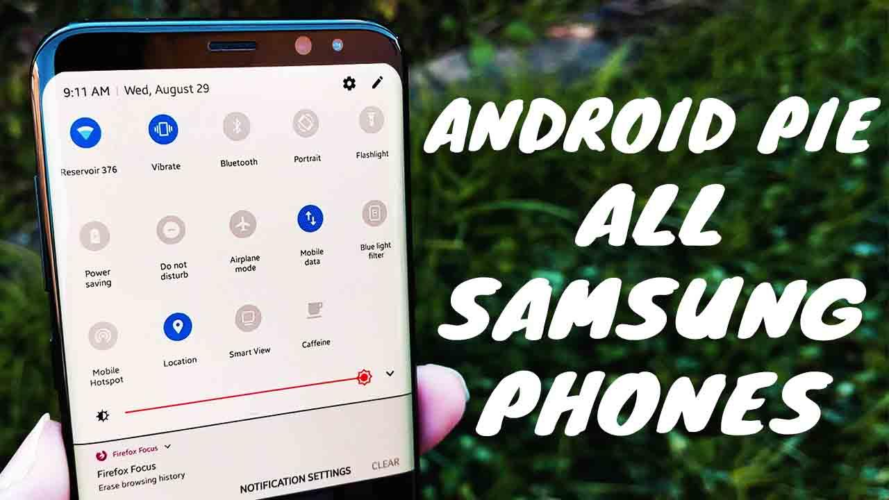android 9 pie update samsung s9 plus