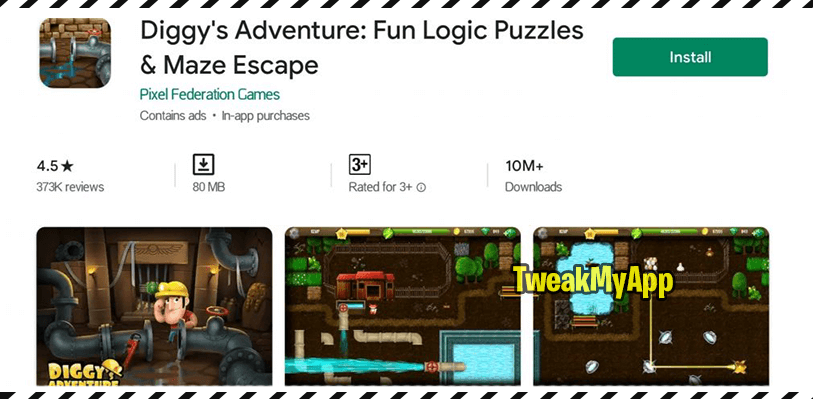 diggys adventure playstore stats