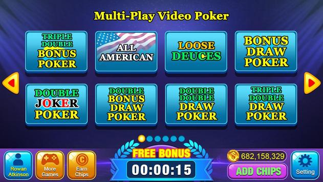 Video Poker Games - Multi Hand Video Poker Free screenshot 1