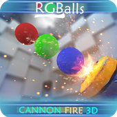 RGBalls – Cannon Fire : Shooting ball game 3D icon