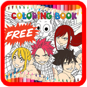 Fairy Tail Coloring Book Anime icon