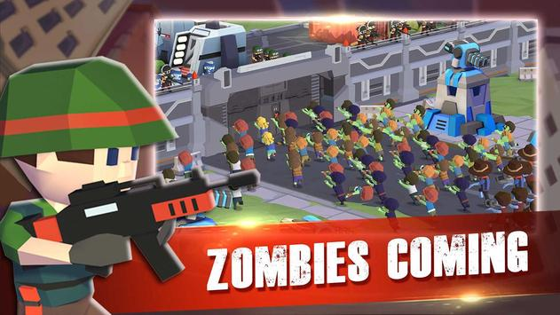 Zombie War : games for defense zombie in a shelter screenshot 1