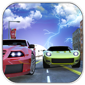 Crazy Chained Car Racer icon