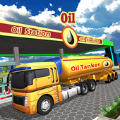 Oil Tanker Usa Truck Driver Transport Cargo 3D 🚚 icon