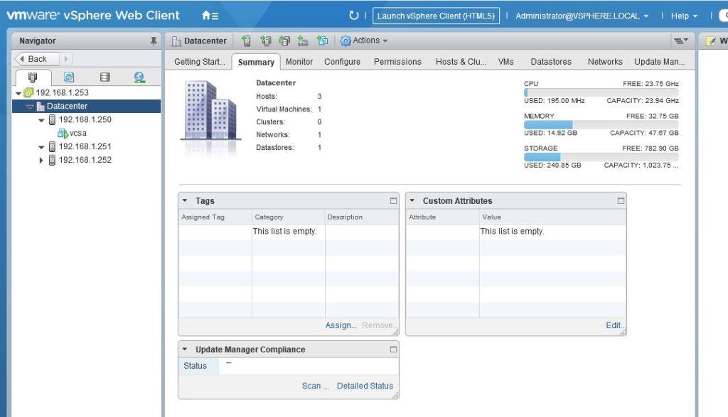 VMware VCSA version 6.5