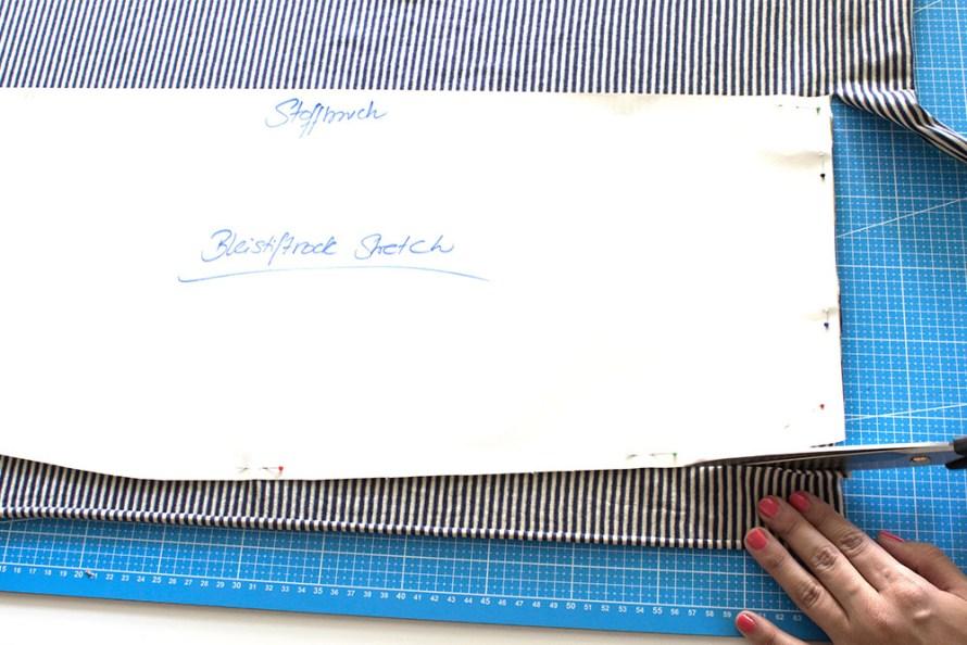 Anleitung gestreifter Bleistiftrock Tweed & Greet