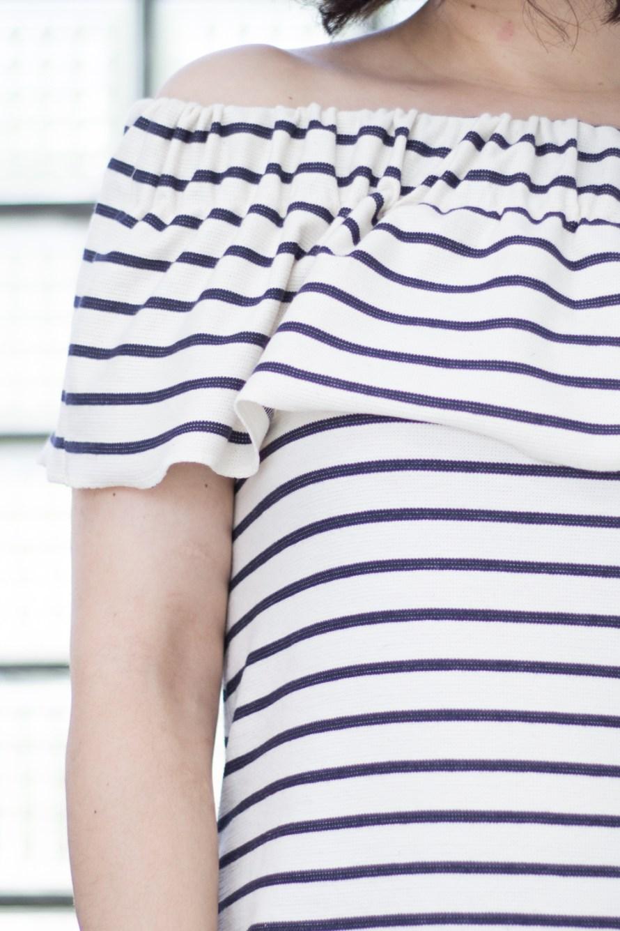 Off-Shoulder Maxikleid by Tweed & Greet