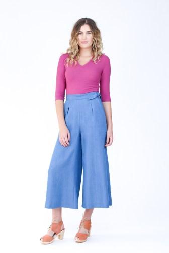 Rowan Bodysuit and Flint pants by Megan Nielsen Patterns