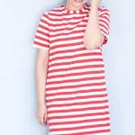 Shirtkleid Jane mit rot-weißen Ringeln: Voll im Sahnebonbonfeeling