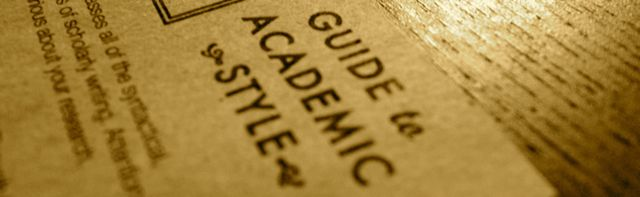 Guide to Academic Style